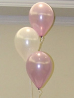 Three balloon table decorations