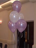 Five balloon table decoration