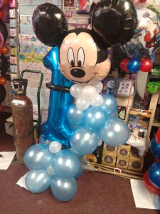 Photo of a Mickey Mouse balloon display
