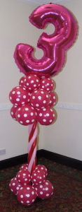 Age 3 balloon display