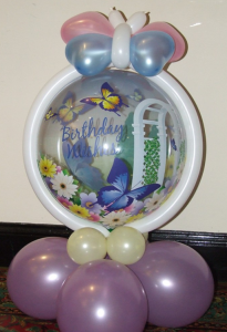 Butterfly themed balloon display