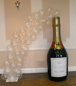 Champagne bottle display