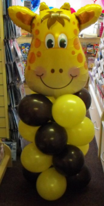 Giraffe balloon display