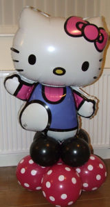 Hello Kitty balloon display