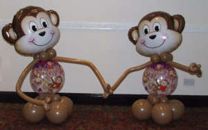 Monkey balloon display