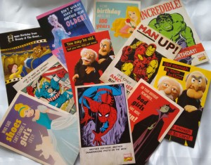Image of disney and marvel comic cards