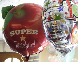 Image of thank you teacher balloons