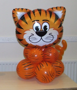 Tiger balloon display